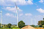 Wind Turbine  Generators Line The Hilltops poster
