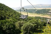 pic of ropeway  - Ropeway in mountain city Jermuk Armenia - JPG