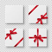 Gift Boxes, Presents Realistic Vector Illustration. Birthday, Christmas Holiday, Wedding Anniversary poster