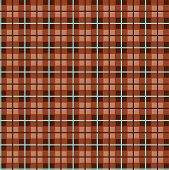 Checkered Pattern, Small Squares, Seamless Pattern, Brown, Vector. Brown Squares And Blue Thin Lines poster