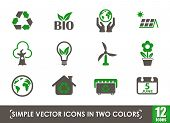 World Environment Day Icon Setworld Environment Day Simple Vector Icons In Two Colors poster