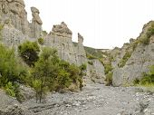 Badlands hoodoos of Putangirua Pinnacles, NZ