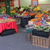 Fresh Fruits And Vegetables At Borough Market In London poster