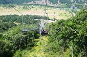 image of ropeway  - Ropeway in mountain city Jermuk Armenia - JPG