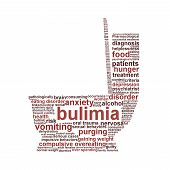 Bulimia nervosa symbol isolated on white
