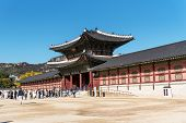 Gyeongbokgung Palace, The Main Royal Palace Of The Joseon Dynasty. It Is One Of Tourist Attraction I poster