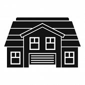 Property Cottage Icon. Simple Illustration Of Property Cottage Vector Icon For Web Design Isolated O poster