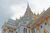 Thai Temple And Cloudy Sky