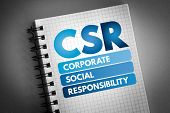Csr - Corporate Social Responsibility Acronym, Business Concept Background poster