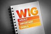 Wig - Wildly Important Goals Acronym, Business Concept Background poster