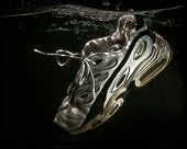 Old Running Shoe Floating In Water