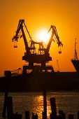 Industrial Crane Sunset