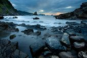 image of basque country  - Rocks in Gaztelugatxe - JPG