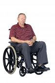 Sad Senior Man In Wheelchair