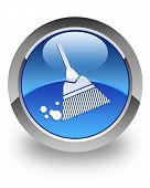 Broom glossy icon