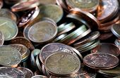Coins Background. Euro Coins. Cent Coins. Euro Cents poster
