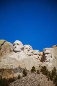 pic of mount rushmore national memorial  - Mount Rushmore monument in South Dakota in the morning - JPG