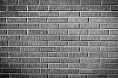 Grunge Brick Wall Texture, Black And White Version
