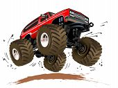 foto of monster-truck  - Vector Cartoon Monster Truck - JPG