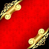 Background With Corners Curl Of Gold And Ornaments