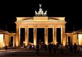 Brandenburg gate in Berlin at night