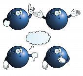 Thinking bowling ball set
