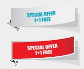 1+1 Free Labels - Vector