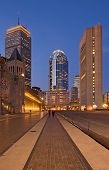 stock photo of prudential center  - Evening view of Prudential Center Boston MA - JPG