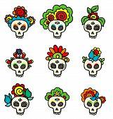 Set With Skulls-catrinas