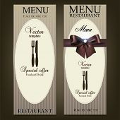Design do Menu do restaurante. Modelo de vetor