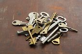 Group Of Vintage Keys