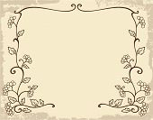 Art Nouveau frame with stylized guelder rose