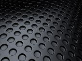 foto of dots  - Black metallic background with lot of perforated dots - JPG