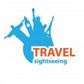 Sign - travel sightseeing, Vector idea