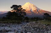 Mount Taranaki at sunrise, Taranaki, New Zealand