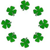 Irish Shamrock In A Circular Border