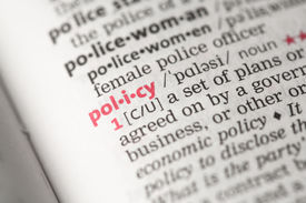 picture of pronunciation  - Policy definition in the dictionary - JPG