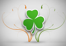 pic of st patty  - Shamrock design on grey background for st patricks day - JPG