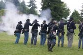 Union Infantry Line Firing