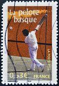 FRANCE - CIRCA 2005: A stamp printed in France shows Basque pelota circa 2005