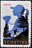 UNITED STATES OF AMERICA - CIRCA 2012: A stamp printed in USA dedicated to celebrate scouting
