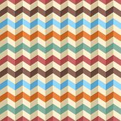 Seamless zig-zag chevron pattern. Vector illustration.