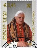 VATICAN - CIRCA 2005: A stamp printed in Vatican shows Pope Benedict XVI Habemus Papam circa 2005