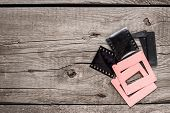 retro negative film and slides