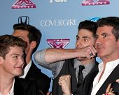 LOS ANGELES - NOV 4:  Simon Cowell, Alex & Sierra, Restless Road, Sweet Suspense at the 2013