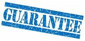 Guarantee Blue Grunge Stamp