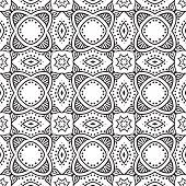 graphic floral detailed seamless vector pattern