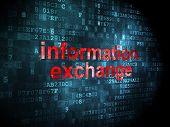 Data concept: Information Exchange on digital background