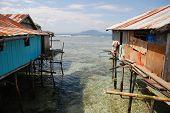 Village Houses At Sea Coast