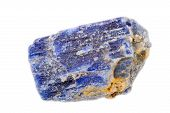 stock photo of uncut  - Lovely blue sapphire crystal. Uncut and raw.